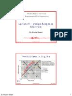Lecture 6 - Design Response Spectrum