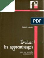 Evaluer Les Apprentissages Dans Une Approche Communicative Lussier_1992