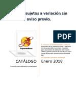 Catalogo actualización Enero 2018