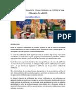 13 Estimacion de Costos Para La Certificacion Organica
