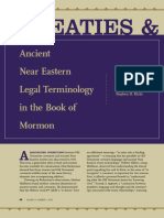 JBMS 14-1 Treaties and Covenants Ancient Near Eastern Legal Terminology in the Book of Mormon