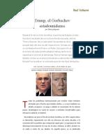 Trump, El Gorbachov Estadounidense, Por Thierry Meyssan