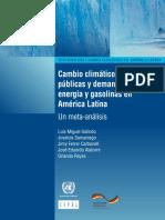 Cambio Climático y políticas públicas
