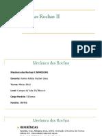 Mecânica Das Rochas II2015alunos