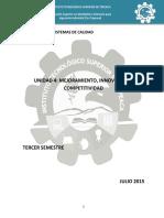 Unidad 4 Mejoramiento, Innovación y Competitividad