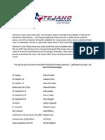 Tejano Democrats Bexar County - Endorsements.pdf