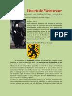 Historia Del Weimaraner