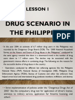 Lesson 1-Drug Scenarion in the Philippines