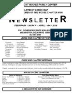 Moosenewsletter Feb March April May 2018