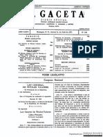 Decreto Precidencial 1824 Nicaragua