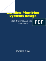 Building Plumbing Systems Design-[Lecture 01-Introduction]