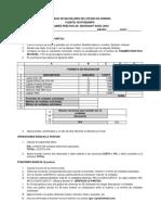 Examen de Excel 2010
