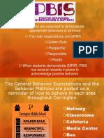 pbis student presentation 8th grade