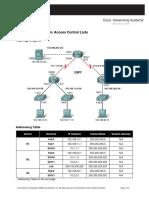 Cisco_Lab 5.5.1 - Basic Access Control Lists