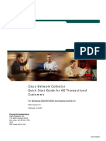 Cisco Network Collector Quick Start Guide for as Transactional Customers