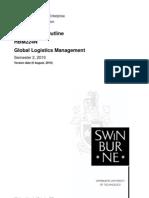 HBM224N Global Logistics Management Unit Outline S2 2 2010