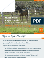 Capacitación en Quick View