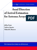 -Narrowband Direction of Arrival Estimation for Antenna Arrays Synthesis Lectures on Antennas