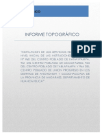 Informe Topográfico Iniciales Angaraes