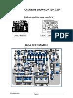 Pcb Amp 100w by Kriss Electronics