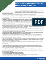 MANUEL DE INSTALACIO¦üN Y MANTENIMIENTO DE CERA¦üMICOS Y PORCELANATOS