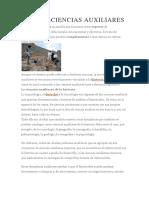 DEFINICIÓN DECIENCIAS AUXILIARES