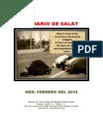 Horarios de Salats FEBRERO 2018 Ecuador