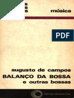 Augusto de Campos - Balanço Da Bossa. e Outras Bossas (1)