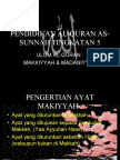Ayat Makiyyah & Madaniyyah