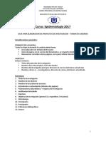 Guia Para Protocolo de Investigación Epidemiológica TELESUP 2017 Dr. Jose a. Perea Torres