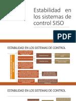 Estabilidad en los Sistemas de Control SISO
