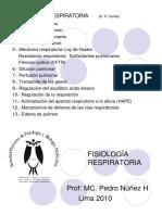 Clases de Fisiologia Respiratoria