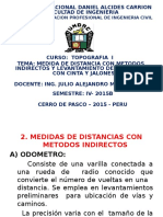 Diap. Top. I Medida de Distancia Indirecta (5ta. Clase) - 2015B-1