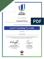 level 1 coaching 15-a-side certificate 2016-01-31