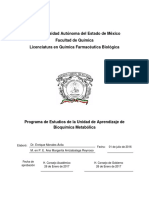 PE Bioquímica Metabólica QFB