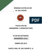 Plan de Estudios Ingeniería Civil 2013