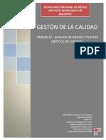 Unidad IV - Análisis de Riesgo y Puntos Críticos de Control