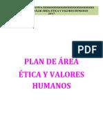 Plan de Area Etica y Valores Humanos