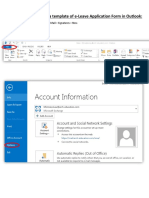 Procedures for Creating an E-Leave Application Form in Outlook