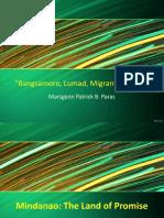 Bangsamoro, Lumad, And Migrant Settlers