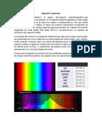 Espectro Luminoso y Sonoro