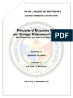 Principles of Enterprise Risk and Management