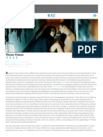 Hou Hsiao Hsien Three Times Slant Review