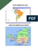 Mapa de America El Sur