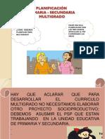 PLANIFOCACIÓN MULTIGRADO