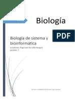 Biologia de sistema y bioinformatica