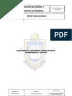 Lineamientos Generales de Ingreso, cia y Egreso