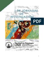 Actas Jornadas Ciencia y Técnica Psicología UNR 2013
