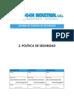 SGSSO PG 02 Politica de Seguridad v.1