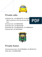 Private Cabs and Autos